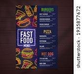 fast food menu design and food... | Shutterstock .eps vector #1935877672