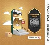 3d online shopping social media ... | Shutterstock .eps vector #1935899398