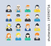 avatar icons stickers users... | Shutterstock . vector #193590716
