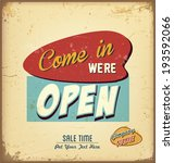 vintage and retro sale label  | Shutterstock .eps vector #193592066