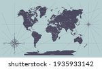 the world map in vintage style  ... | Shutterstock .eps vector #1935933142