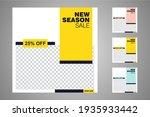 new set of editable minimal... | Shutterstock .eps vector #1935933442