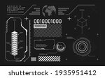 vector hud graphic in...