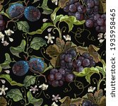 embroidery cluster of grapes... | Shutterstock .eps vector #1935958465