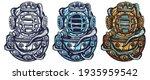 scuba diver helmet and octopus... | Shutterstock .eps vector #1935959542