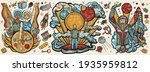 universe and people. retro... | Shutterstock .eps vector #1935959812
