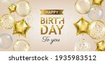 happy birthday card with... | Shutterstock .eps vector #1935983512