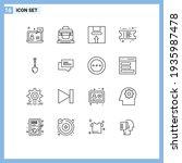 pack of 16 modern outlines... | Shutterstock .eps vector #1935987478