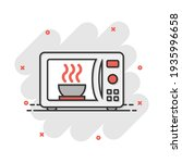 Vector Cartoon Microwave Icon...
