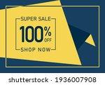 super sale 100  off banner....   Shutterstock .eps vector #1936007908