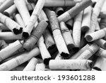 cigarette butts  black and white | Shutterstock . vector #193601288