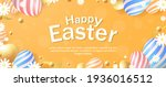 easter background design with... | Shutterstock .eps vector #1936016512