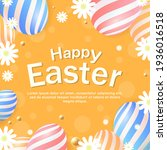 easter background design with... | Shutterstock .eps vector #1936016518