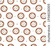 doodle chocolate chips cookies...   Shutterstock .eps vector #1936028305