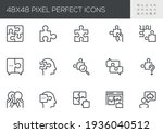 set of vector line icons... | Shutterstock .eps vector #1936040512