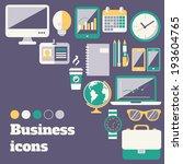 business office accessories... | Shutterstock . vector #193604765