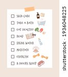self care checklist and routine ... | Shutterstock .eps vector #1936048225