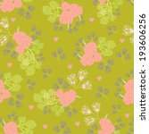 seamless pattern with flowers...   Shutterstock .eps vector #193606256
