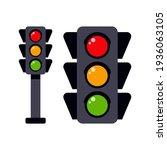 traffic light to regulate the... | Shutterstock .eps vector #1936063105