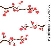 vector cherry blossom | Shutterstock .eps vector #193606496