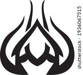 vector symbol  ornament  tattoo.... | Shutterstock .eps vector #1936067515