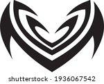 vector symbol  ornament  tattoo.... | Shutterstock .eps vector #1936067542