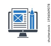 blog management related glyph...   Shutterstock . vector #1936069078