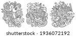 new york cartoon vector doodle... | Shutterstock .eps vector #1936072192