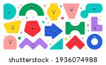 geometric character shapes with ... | Shutterstock .eps vector #1936074988