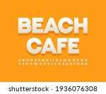 vector stylish emblem beach... | Shutterstock .eps vector #1936076308