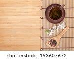 japanese green tea and sakura... | Shutterstock . vector #193607672