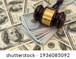 Dollar Money And Judges Gavel...