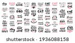 cat and dog phrase black and...   Shutterstock .eps vector #1936088158