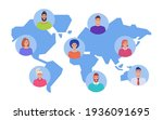user icons on the background of ... | Shutterstock .eps vector #1936091695