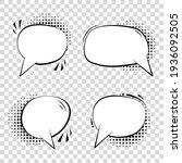 a set of comic speech bubbles.... | Shutterstock .eps vector #1936092505