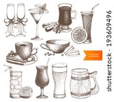vector set of different vintage ... | Shutterstock .eps vector #193609496