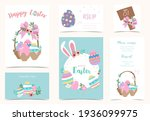 collection of easter background ... | Shutterstock .eps vector #1936099975