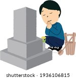 japanese man is visiting the... | Shutterstock .eps vector #1936106815