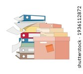 stack file and folder  lot of...   Shutterstock .eps vector #1936112872