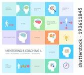 vector mentoring and coaching... | Shutterstock .eps vector #193611845