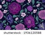 vintage seamless pattern....   Shutterstock .eps vector #1936120588