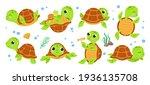 turtle characters. cartoon... | Shutterstock .eps vector #1936135708