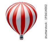 hot air balloon. isolated on... | Shutterstock . vector #193614002