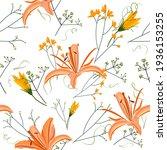 beautiful endless gentle floral ...   Shutterstock .eps vector #1936153255
