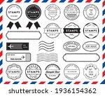 retro postmark  stamp  and... | Shutterstock .eps vector #1936154362