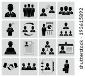 human resources and management... | Shutterstock . vector #193615892