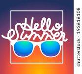 summertime sunrise background... | Shutterstock .eps vector #193616108