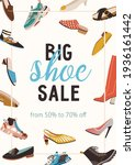 flyer with shoe sale...   Shutterstock .eps vector #1936161442