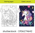 beauty cosmic unicorn with...   Shutterstock .eps vector #1936174642