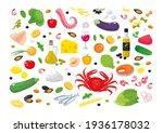 collection of mediterranean... | Shutterstock .eps vector #1936178032